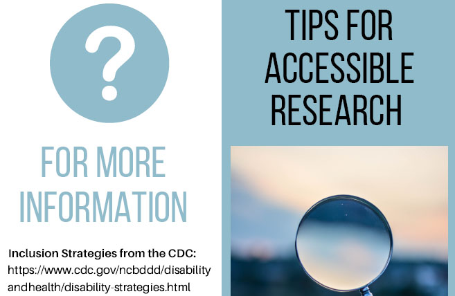 Tips for Accessible Research